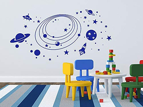 Adesivo murale con sistema solare 90x46cm Adesivo4YOU.COM