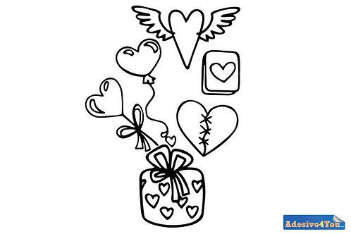 """Adesivo murale""""Amore volante"""" 50x77cm Adesivo4you.com"""