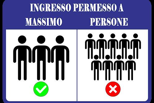 """Adesivo Segnaletica """"Ingressi"""" Anti Assembramento"""