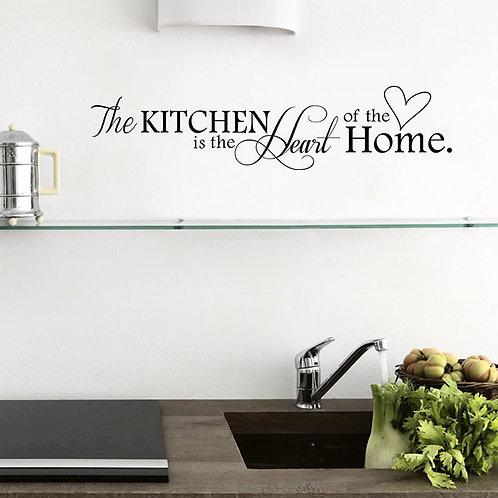 """Adesivo murale con frase""""the kitchen...""""100x25cm-200x50cm."""