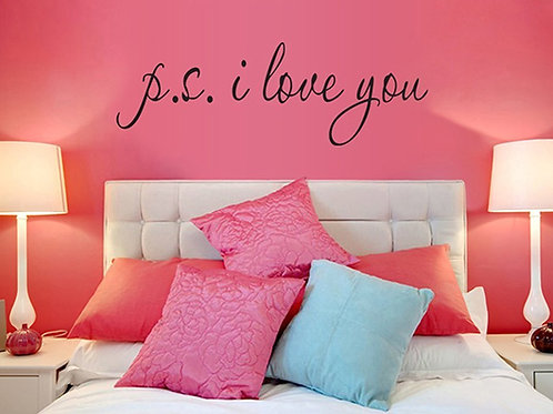 """""""P.S. I Love You"""" Citazioni di Amore Romantico e Proverbi Adesivi Murali, Camera"""
