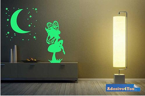 """Adesivo murale luminoso """"fata fluo""""50x50 cm"""