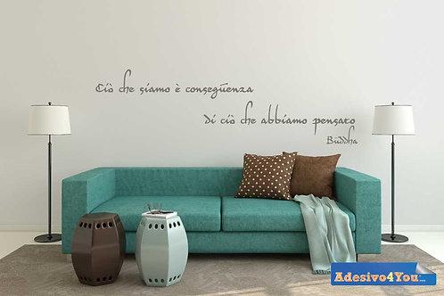 """Adesivo murale """"Buddha: ciò che siamo è..."""". Adesivo4You ®"""
