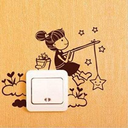 Adesivi vinile decorativo wall decor sticker per interruttore. Adesivo4You