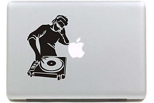 "Adesivo di ""DeeJay"" in vinile per Apple Mac Macbook"