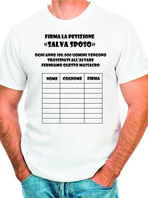 "T-shirt ""addio al celibato"" U"