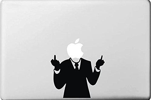 """Adesivo di """"Fuck Man"""" in vinile per Apple Mac Macbook"""
