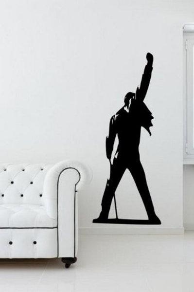 """Adesivo murale per la casa. """"Freddie Mercury"""". Wall Sticker"""