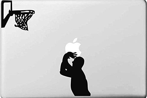 "Adesivo di ""Cestista"" in vinile per Apple Mac Macbook"