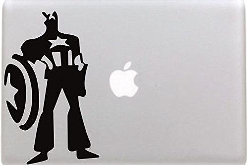 "Adesivo di ""Captain America"" in vinile per Apple Mac Macbook"