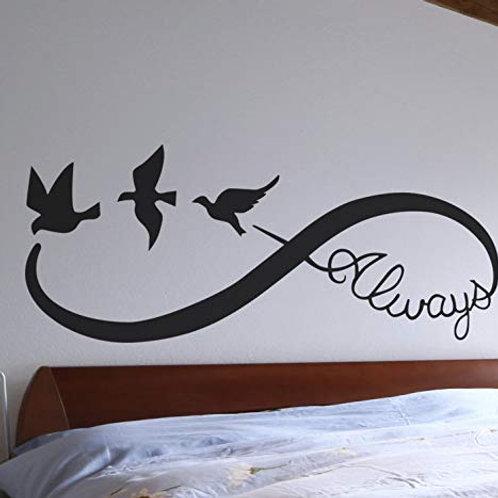 """Adesivo murale con""""l'infinito"""" 100x50"""