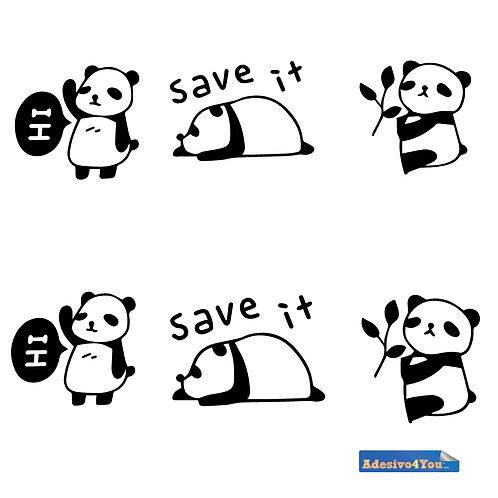 Interruttore panda in bianco adesivo Decorazione parete. Adesivo4You ®