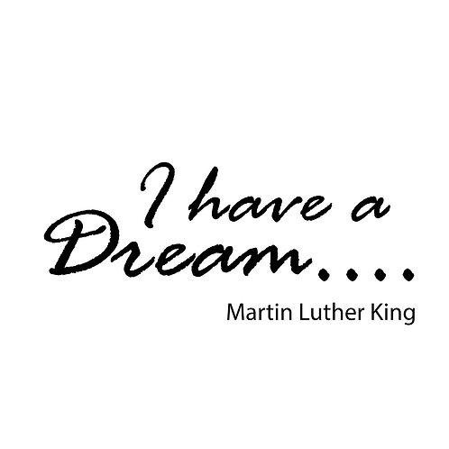 "Adesivo murale citazione M.L.King""I have a dream""200x60cm."