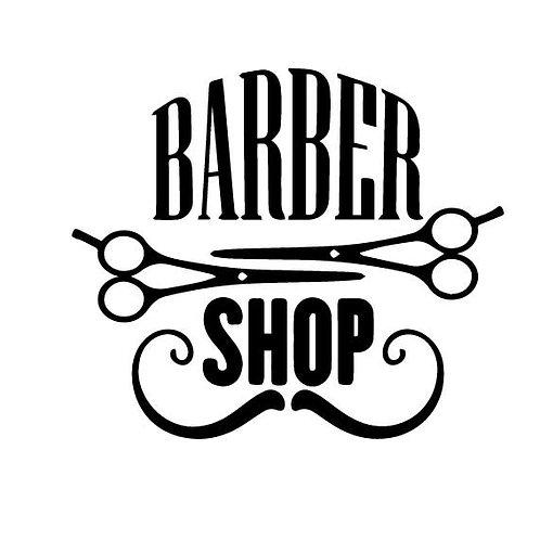 Adesivo Murale scritta Barber Shop Wall sticker.