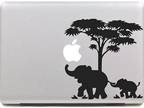 "Adesivo di ""Elefanti"" in vinile per Apple Mac Macbook"