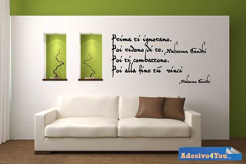 Adesivo murale frase Gandi 55x40cm-110x60cm