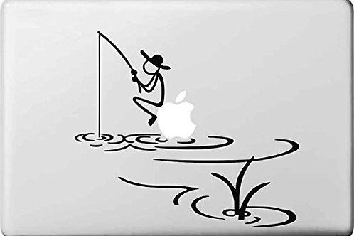 "Adesivo di ""Pescatore"" in vinile per Apple Mac Macbook"