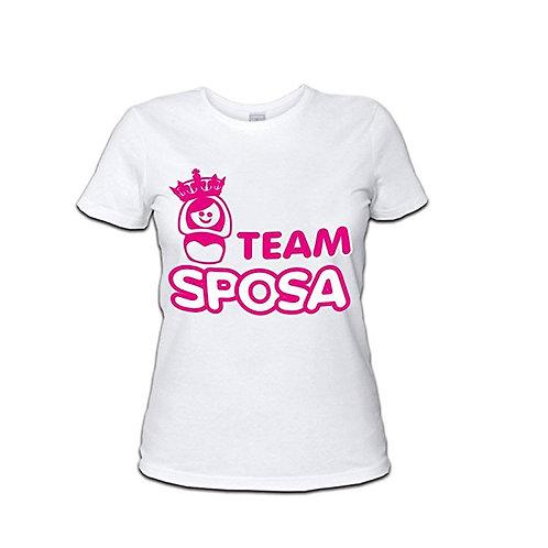 """T-shirt """"team sposa"""""""
