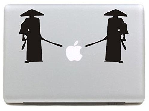 "Adesivo di ""Due Samurai"" in vinile per Apple Mac Macbook"
