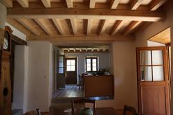 Plafond bois à la française
