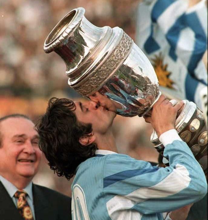 Enzo Francescoli fue elegido como el jugador de la Copa América de Uruguay 1995. Crédito: Alejandro Pagni / AFP /Getty Images