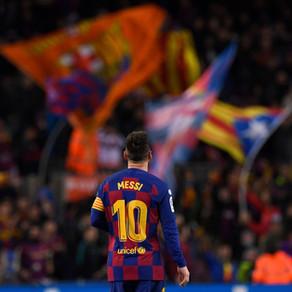 El desgarro de Messi