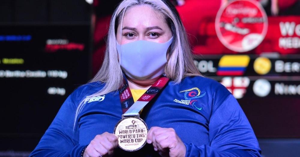 Bertha Fernández, medalla de oro para Colombia en Copa Mundo de Parapowerlifting