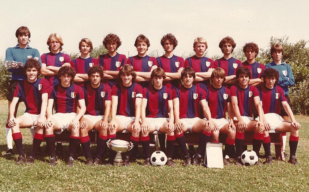 Mancino en sus inicios con el Bologna. Crédito: Robertomancini.com