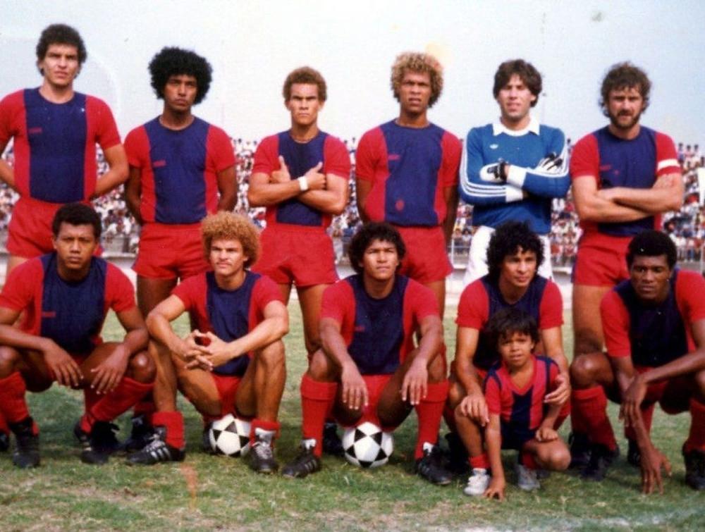 Equipo de Unión Magdalena de 1983. Fue el último año de Valderrama.