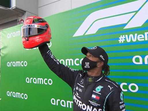 Lewis Hamilton, podio de campeones