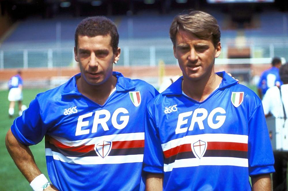Roberto Mancini fue un ícono en La Sampdoria por sus goles y el título del 90. Crédito: Robertomancini.com