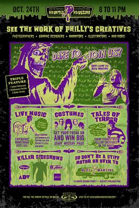 Bowhaus Haunted Haus Poster