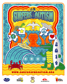 Surfers For Autism Poster