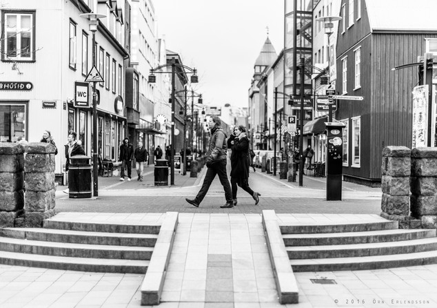 Walking through Reykjavik