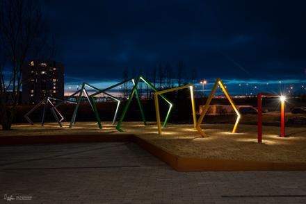 Light sculpture in Reykjavík