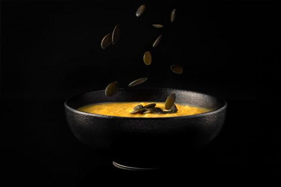Pumpkin Soup and Seeds