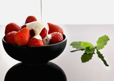 Christina Groth-Biswas - Strawberries and Cream on white