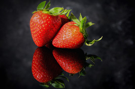 Reflection of Strawberries