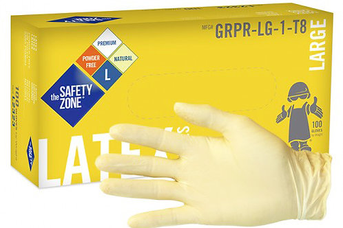 8 mil Natural Colored Latex Gloves