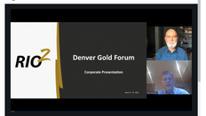 ALEX BLACK, PRESIDENT & CEO OF RIO2 PRESENTING AT THE WORLD GOLD FORUM