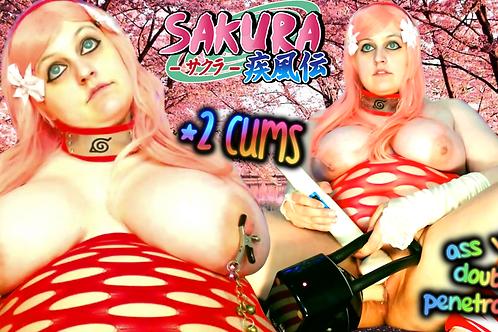 Sakura x Sasuke 2 CUMS Ass Fuck Machine!