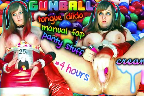 Gumball Tongue Manual Fap CLOSE-UP Creamy
