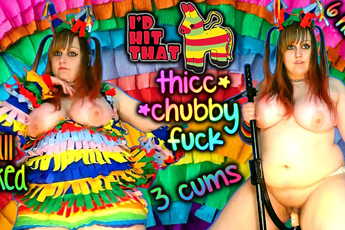 Pinata Naked 3 CUMS Chubby THICC Blowjob!