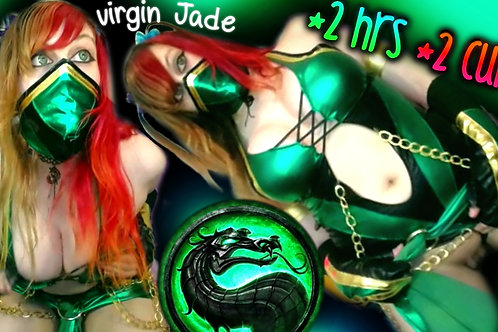 Virgin Jade 2 Cums 2 Hours Fuck Machine!