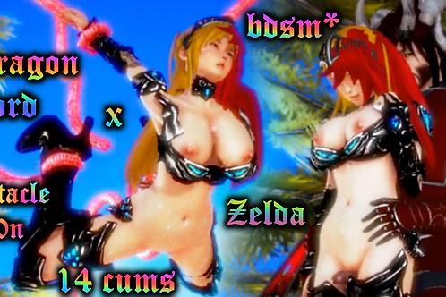 Dragon Lord Hentai x Zelda 14 CUMS B/G/G!