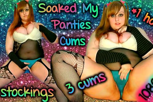 3 CUMS I WET MY PANTiES! o.o Oh no! 1 HR