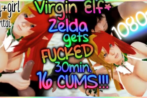 BabyZelda Elf Princess Hentai 16 CUMS!!!