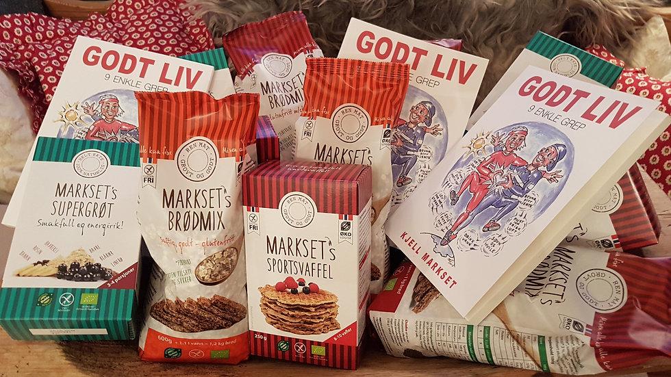 GODT LIV +  brødmix  + supergrøt +vaffelmix