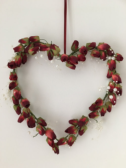 HANGING CHRISTMAS HEART - GIFT WRAPPED - 19CM