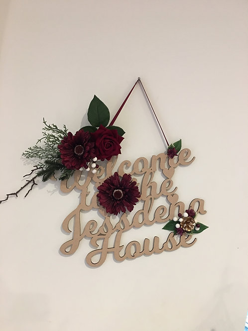PERSONALISED DECORATIVE DOOR PLAQUE - 40X30CM